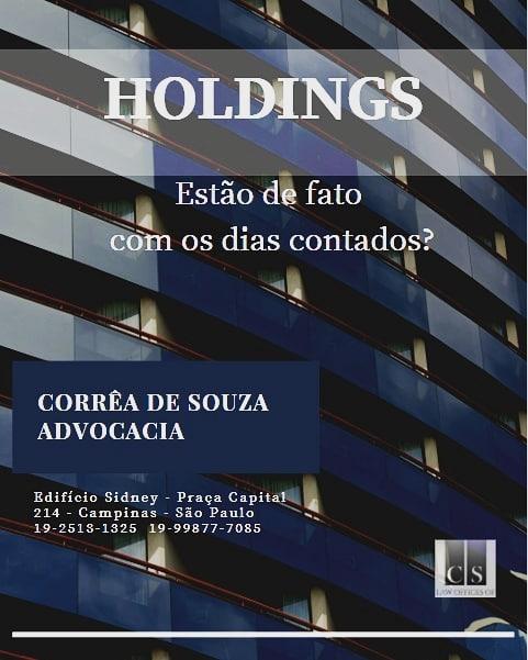 Holdings estão de fato com os dias contados?